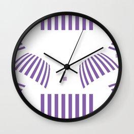 Ultra Violet Abstract Wall Clock