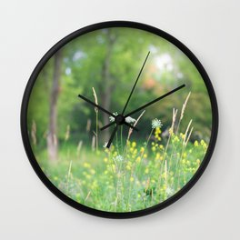 Wildflowers and the Woodland Wall Clock