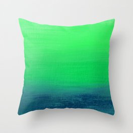 Blue Green Waters Throw Pillow
