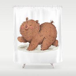 Fat Little Bear Shower Curtain