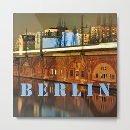 NIGHTTRAIN - RIVERSIDE - BERLIN Metal Print