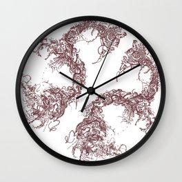 Study in Symmetry (No. 2)   Burnt sienna Wall Clock