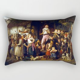 Fritz Beinke The Juggler-A Village Fair Rectangular Pillow
