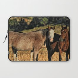 Two Wild Mustang Mares Laptop Sleeve