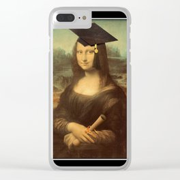 Mona Lisa Graduate Clear iPhone Case