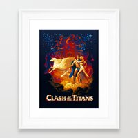 teen titans Framed Art Prints featuring Titans by CromMorc