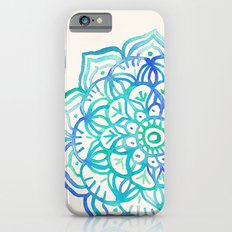Watercolor Medallion in Ocean Colors Slim Case iPhone 6s