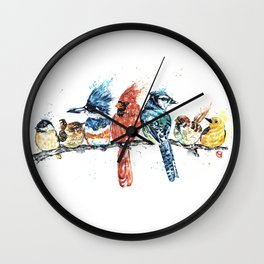 "Birds On A Branch - ""Peeps"" Wall Clock"