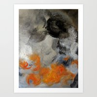 imagerybydianna Art Prints featuring empty hurricane fires by Imagery by dianna