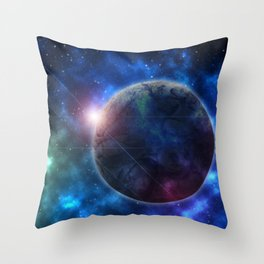 A Galaxy Teeming with Life Throw Pillow