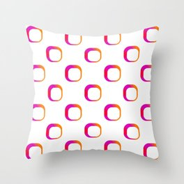 Squircle Vintage Inspired Pattern Throw Pillow