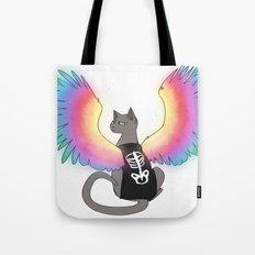 Magical Rainbow Cat Tote Bag