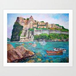The Aragonese Castle of Ischia Art Print