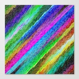 Colorful digital art splashing G478 Canvas Print