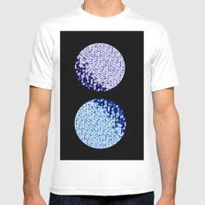 Two Moons - Purple and Blue MEDIUM White Mens Fitted Tee