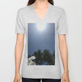 Radiant sun, Blue sky Unisex V-Neck