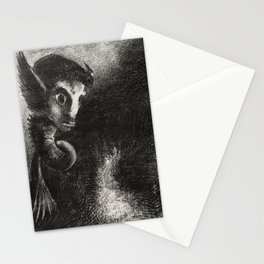 """Odilon Redon """"The Night The Chimera Gazed at All Things with Fear"""" Stationery Cards"""