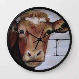 Red Cow Wall Clock