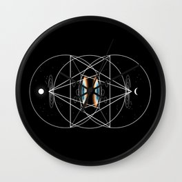 Tetrahedral Theory Wall Clock