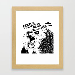 Bears and Mountains Framed Art Print