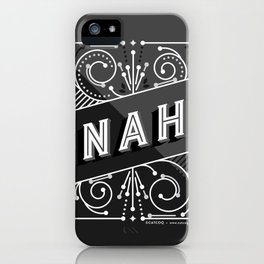 Nah – Black & Grey Palette iPhone Case