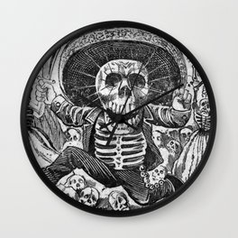 Skulls from the heap Wall Clock