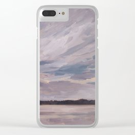 Sunset over the Lake Clear iPhone Case