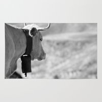 cow Area & Throw Rugs featuring Cow by Crazy Thoom
