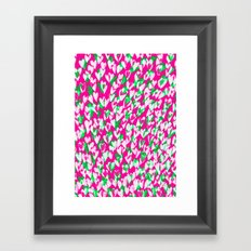 Love hearts Framed Art Print