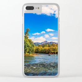 Rafting along the Bystraya (Fast) river, Kamchatka Clear iPhone Case