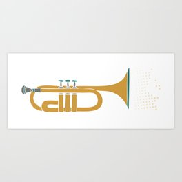 Sometimes ya gotta toot your horn! Art Print