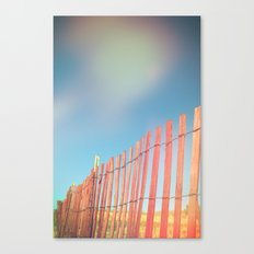 Beach Fence Canvas Print