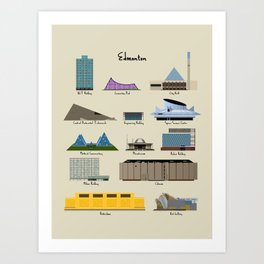 Edmonton Modern Buildings Art Print
