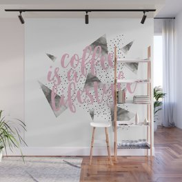 Text Art COFFEE IS A LIFESTYLE Wall Mural