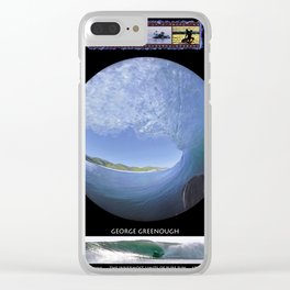 George Greenough Filming 1968 (6 photo composite) Clear iPhone Case