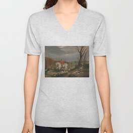 The Suffolk Hunt - John Frederick Herring Unisex V-Neck