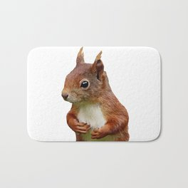 Squirrel Head Illustration Bath Mat