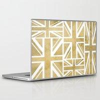 union jack Laptop & iPad Skins featuring UNION JACK by Oksana Smith