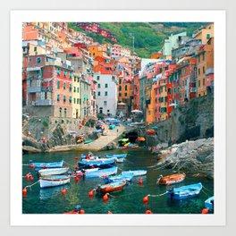 Italy. Cinque Terre marina Art Print