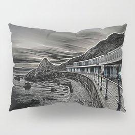 Meadfoot Beach Huts - Digital Pillow Sham