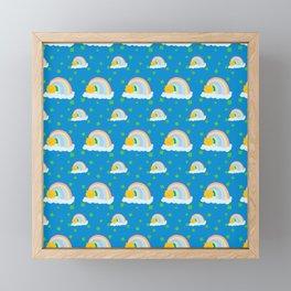 Lucky Rainbow Clover Pattern Framed Mini Art Print