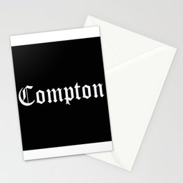 Compton hiphop street black white artwork Stationery Cards