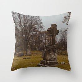 Centralia, Pennsylvania Cemetery Throw Pillow