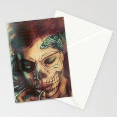 Skull Girl Stationery Cards