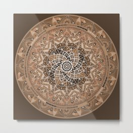 Terra Mandala Metal Print