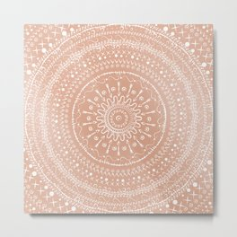 Geometric tribal mandala Metal Print