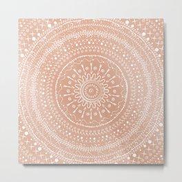 Geometric tribal mandala Metal Print