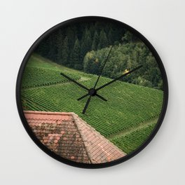 Countryside Textures Wall Clock