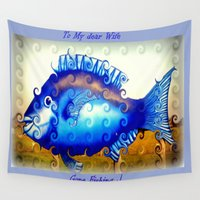 fishing Wall Tapestries featuring Gone Fishing by Chris' Landscape Images & Designs