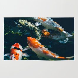Koi Fish In Water Rug